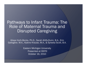 Pathways to Infant Trauma: The Role of Maternal Trauma and Disrupted Caregiving