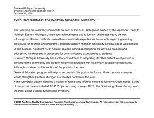 EXECUTIVE SUMMARY FOR EASTERN MICHIGAN UNIVERSITY