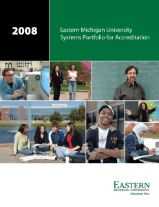 2008 Eastern Michigan University Systems Portfolio for Accreditation