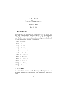 18.091  Lab  2 Rates  of  Convergence 1 Introduction
