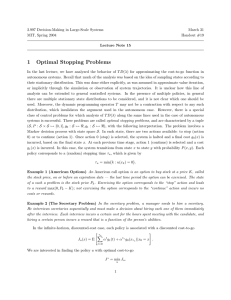 1 Optimal  Stopping  Problems