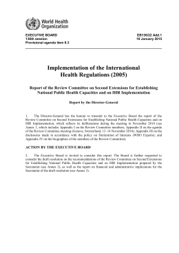 Implementation of the International Health Regulations (2005)