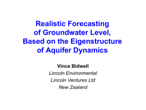 Realistic Forecasting of Groundwater Level, Based on the Eigenstructure of Aquifer Dynamics