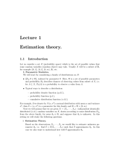 Lecture 1 Estimation theory. 1.1 Introduction