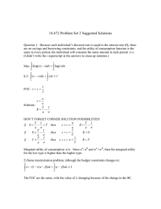 14.472 Problem Set 2 Suggested Solutions