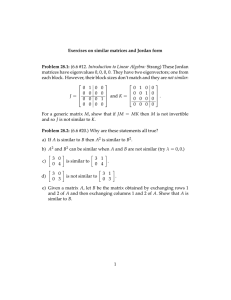 (6.6 #12. Introduction to Linear Algebra: Strang) These Jordan Exercises Problem