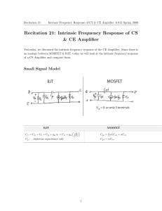 Recitation 21: Intrinsic Frequency Response of CS & CE Amplifier