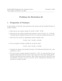 Problems  for  Recitation  22