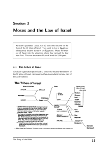 Moses and the Law of Israel Session 3