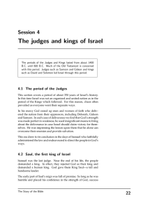 The judges and kings of Israel Session 4