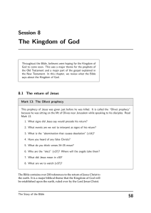 The Kingdom of God Session 8
