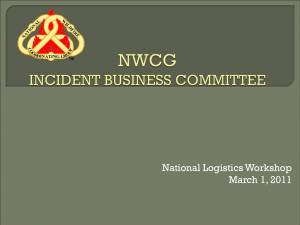 National Logistics Workshop March 1, 2011