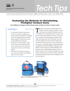 Tech Tips T Evaluating the Methods for Refurbishing Firefighter Cordura Items