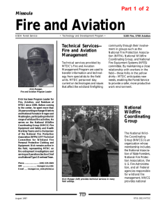 Fire and Aviation Part 1 of 2 Missoula Technical Services—