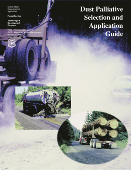 Dust Palliative Selection and Application Guide