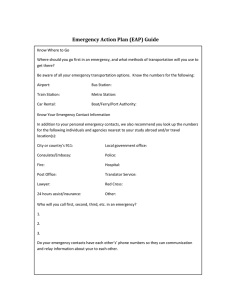 Emergency Action Plan (EAP) Guide