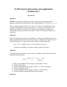 22.106 Neutron Interactions and Applications Problem Set 2