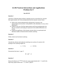 22.106 Neutron Interactions and Applications Problem Set 5
