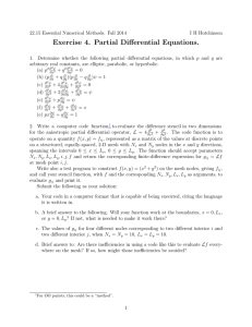 Exercise 4. Partial Differential Equations.