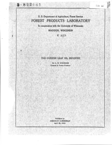 822(.41 FOREST PRODUCTS LABORATORY