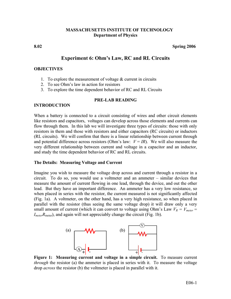 Experiment 6 Ohms Law Rc And Rl Circuits Figure 3 Parallel Rlc Circuit