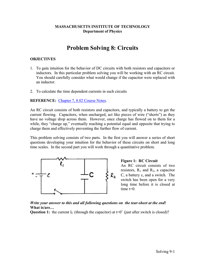Rc Circuit Physics Problem Solving Wiring Diagram And Ebooks Capacitance Rl Vs Circuits Stack Exchange 8 Rh Studylib Net Passive Low Pass Filter Charging