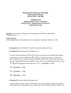 Massachusetts Institute of Technology Department of Physics Physics 8.022 - Fall 2002