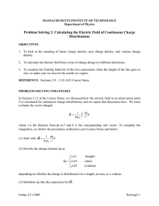 Problem Solving 2: Calculating the Electric Field of Continuous Charge Distributions