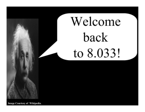 Welcome back to 8.033! Image Courtesy of  Wikipedia.