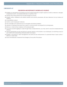 Appendix A: Hazard Checklists and Procedures CheCklist #27
