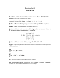 Problem Set 1 Due SES #4