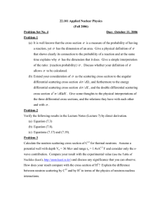 22.101 Applied Nuclear Physics (Fall 2006) Problem Set No. 4