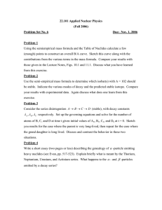 22.101 Applied Nuclear Physics (Fall 2006) Problem Set No. 6