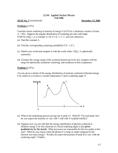 22.101  Applied Nuclear Physics Fall 2006 QUIZ No. 3 December 13, 2006