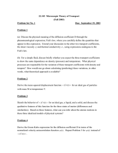 22.103  Microscopic Theory of Transport (Fall 2003) Problem Set No. 1