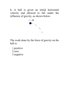 1. velocity and allowed to fall under the