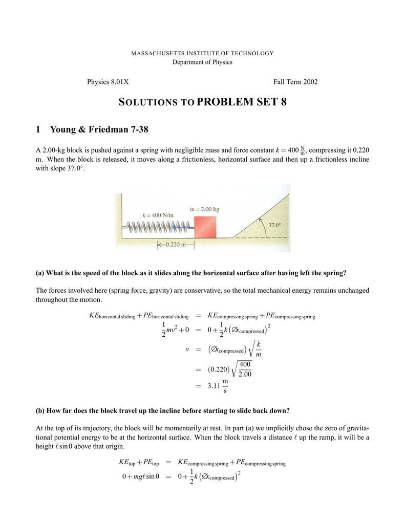 S PROBLEM 1 OLUTIONS