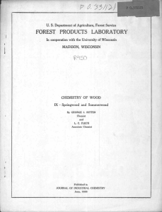FOREST PRODUCTS LABORATOR Y .wish- u -:.