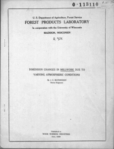 a 0 ,113110 4q FOREST PRODUCTS LABORATOR Y