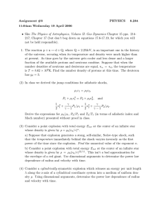 Assignment #8 PHYSICS 8.284 11:04am Wednesday 19 April 2006