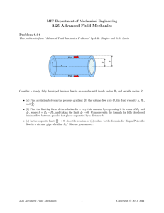 2.25  Advanced  Fluid  Mechanics Problem  6.04