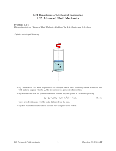 2.25  Advanced  Fluid  Mechanics Problem  1.14