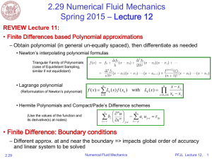 2.29 Numerical Fluid Mechanics Spring 2015 – Lecture 12  