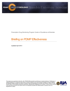Briefing on PDMP Effectiveness Updated April 2013
