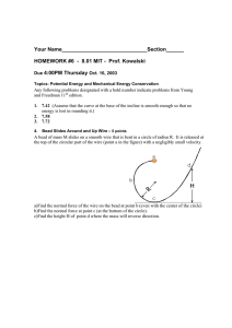 Your Name_____________________________Section______ HOMEWORK #6  - 8.01 MIT - Prof. Kowalski