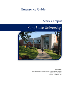 Kent State University Emergency Guide Stark Campus