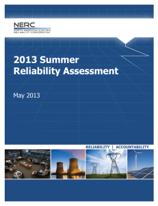 2013 Summer Reliability Assessment  May 2013