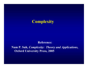 Complexity Reference: Complexity:  Theory and Applications, Oxford University Press, 2005