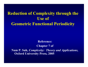 Reduction of Complexity through the Use of Geometric Functional Periodicity Reference: