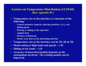 Lecture on Temperature Distribution (11/29-04)